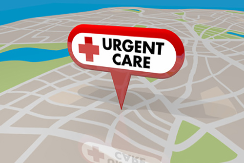 Urgent Care Map Pin Location Sign Emergency Medial Center 3d Ill